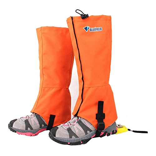 Outdoor Waterproof Gaiters Leg Protection Guard Windproof Shin Protect Winter Skiing Hiking Climbing (Orange) Size L by New Brand