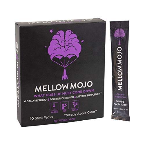 (10-Servings) Mellow Mojo Sleep Aid by Mental Mojo: Doctor-Designed Sleep Supplement Drink Mix Calms, Relaxes & Induces Deep Sleep