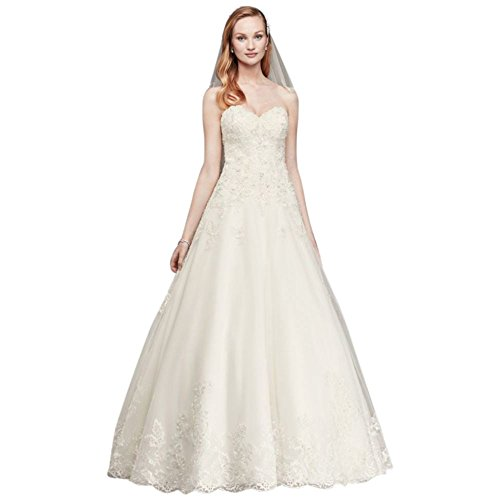 Wedding Dress Lace Tulle White Style Beaded Ball Gown V3836 Bridal David's aq0xnTY