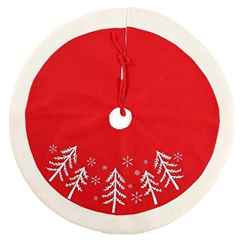 VIDOO 90 Cm Árbol De Navidad Impresión Terciopelo Árbol Falda ...