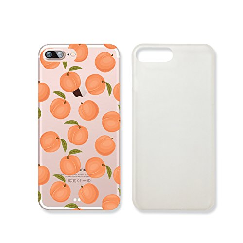 Peach Fruit Pattern Summer Transparent Plastic Phone Case for iphone 7 _ SUPERTRAMPshop (iphone 7)