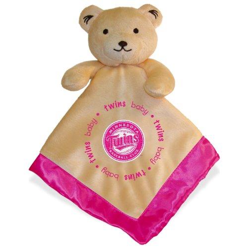 Minnesota Twins Pink Baby Security Snuggle Bear Blanket - 14