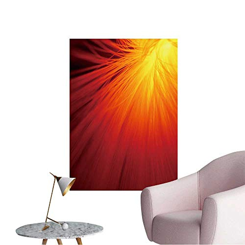 Wall Painting Sunburst in fire red High-Definition Design,28