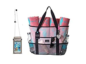 Amazon.com : Bombshell Beach Bags - a range of extra large mesh ...