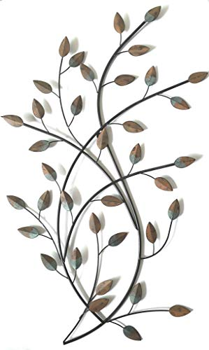 Your Home and Beyond- Autumn Leaves Metal Wall Decor. There is a beautiful hint of blue and brown colors on the leaves, which creates a natural appeal. Even looks good in the backyard or living room.