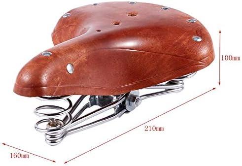 LKXKZB Fahrradsattel mit /überzug Gel MTB Sattel Bequemer Hohl Ergonomisch Fahrradsitz Weich und komfortabel Vintage sattelfeder Kissen fahrradteile ersatz