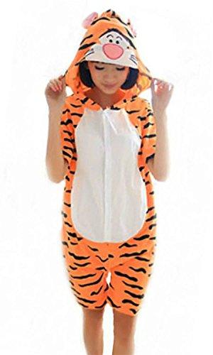 [Cameinic Women's Summer Cosplay Tiger Pajamas Animal sleepwear Onesie Cute,Tiger,M(5'6
