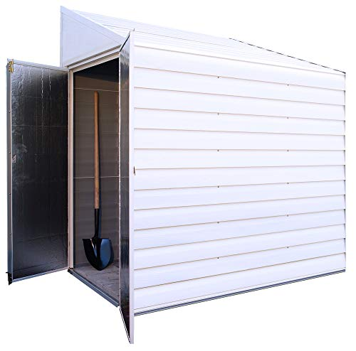 Garden and Outdoor Arrow Shed 4′ x 7′ Yardsaver Compact Galvanized Steel Storage Shed with Pent Roof outdoor storage sheds