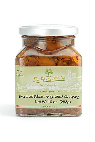 (Di Augusto Tomato and Balsamic Vinegar Bruschetta Topping 10 oz (283 g) Glass Jar (Pack of 1))