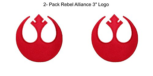 (2- Pack) Star Wars Rebel Alliance Logo Iron/Sew-On Embroidered 3