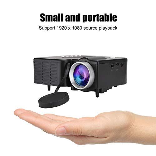 Mini Projektor, 1920X1080 Full HD tragbarer LED Videoprojektor Heimkino HD Multimedia Film Player mit AV USB TF Karten…