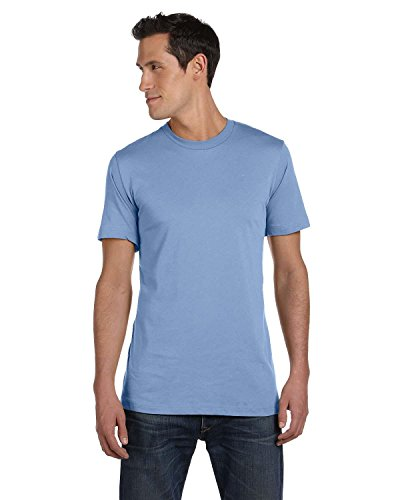 Bella + Canvas Unisex Jersey Short Sleeve Tee (Ocean Blue) (L)