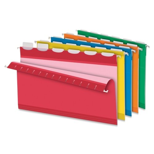 Wholesale CASE of 10 - Esselte Pendaflex Ready Tab Color Hanging Folders-Hanging Folder With Tab, Legal Size,1/5Cut, 25/BX, Assorted by ESS