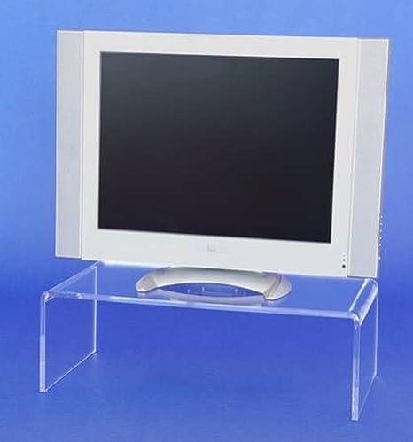 Cristal acrílico Plexiglás TV de Puente 55 x 13 x 30 podio televisor höhung Monitor accesorio: Amazon.es: Juguetes y juegos