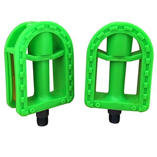 N3od3er Kid's bike pedal 1/2-Inch bike pedals kids Spindle Pedals Resin 12'' 14 (Green)