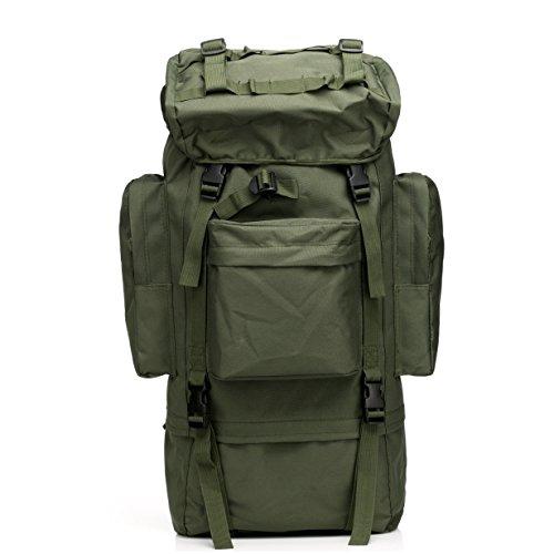 Generic 65L Tactical Travel Rucksack Outdoor Camping Wandern Tasche für Bergsteiger Trekking Regen Cover Metall Rahmen 7 Arten von Farbe Optional