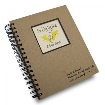 Me & My Big Ideas, A Goal Journal - Kraft Hard Cover (prompts on every page, recycled paper, read more...)