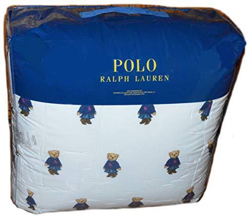 Ralph Lauren Polo Teddy Bear Girl 3P King Comforter Set New Denim Skirt Pink
