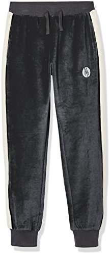 - Kid Nation Kid's Cozy Velour Pull on Track Pant for Boys and Girls XS Charcoal Gray Heather/White