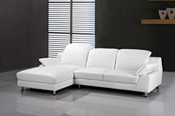Olympia Left Or Right Corner Sofa Chaise White Leather