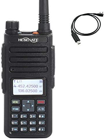 HESENATE MD-1801 Dual Band Radio 70CM 2M DMR Tier II Digital Analog Amateur Radio 5W Ham Transceiver