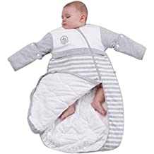 OuYun Baby Organic Sleeping Bag Detachable Sleeve Wearable Blanket Spring&Autumn