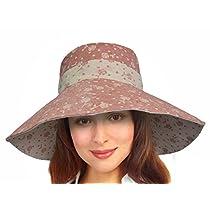 Terra Women's Sun Hat UV Protection Wide Brim Flap Cap Reversible Floppy Hat