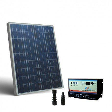 Kit solar Wohnmobil 80W 12V, Photovoltaik Regler für zwei Batterien