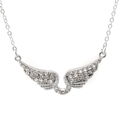 Spinningdaisy Silver Plated Flying Necklace