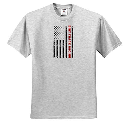 Carsten Reisinger - Illustrations - Dirt Track Racing Design American Flag in Distressed Style - T-Shirts - Toddler Birch-Gray-T-Shirt (3T) (ts_294722_32) ()