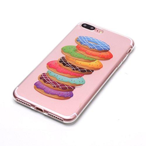 iPhone 7 Plus Hülle, Modisch Hamburger Transparent TPU Silikon Schutz Handy Hülle Handytasche HandyHülle Etui Schale Schutzhülle Case Cover für Apple iPhone 7 Plus