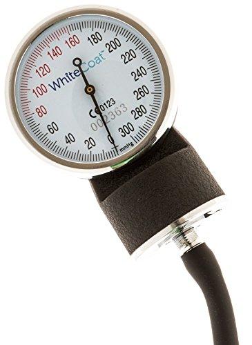 White Sphygmomanometer Professional Monitor Black Carrying Case