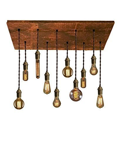 amazon com reclaimed wood chandelier 10 pendant light unique