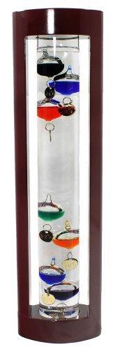 Galileo Thermometer - 15 inch, Wood by G.W. Schleidt by G W Schleidt