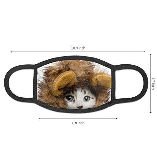 Unisex Cat Wearing A Hat Anti Dust Medical Masks Kawaii Face Mouth Filter Mask For Kids Teens Men Women