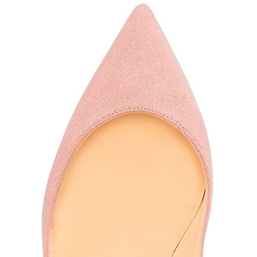 Pink Stiletto Court On Ubeauty Heels Toe Slip Pumps Shoes High Sandals Women's Pointed Big Size Suede 6Txwfq6Bv
