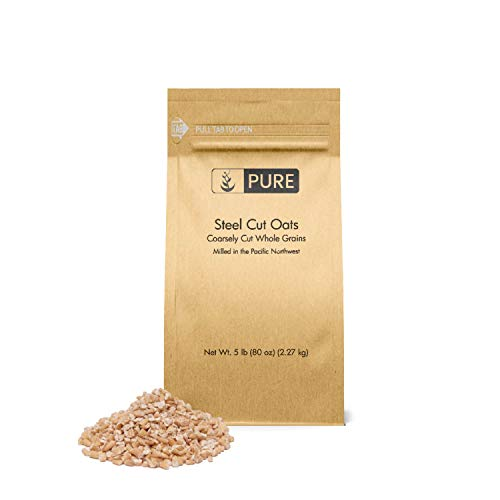 Steel Cut Oats (5 lb.) by Pure Organic Ingredients, also called Irish Oatmeal,...