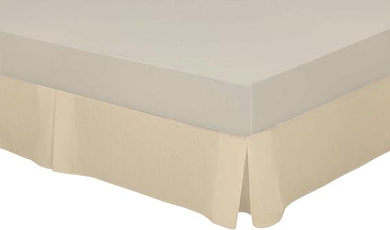 Cassa Luyton Cubre canapé loneta de Fuelles, Algodón-Poliéster, Crema, 135 x 200 cm