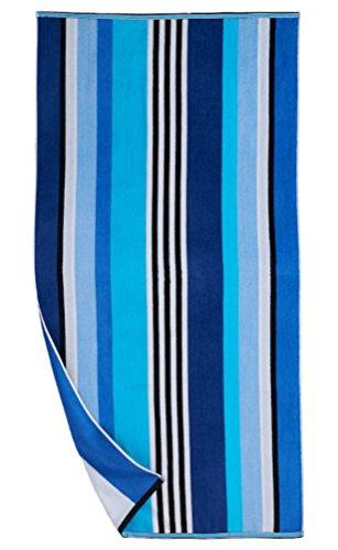 Reversible Beach Towel - The Big One Large Beach Towel Reversible (Blue)
