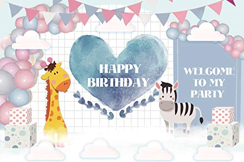 Used, Baocicco 10x7ft Happy Birthday Backdrop Banners Balloon for sale  Delivered anywhere in USA