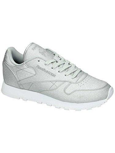 Reebok Cl Lthr Met Diamond, Sneakers Mujer Gris