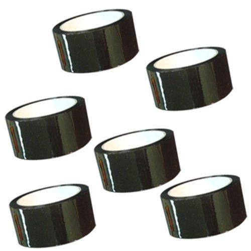 "Carton Sealing Tape 2"" x 110 yds 2 mils, several colors, 6-Black"