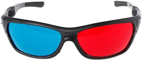 [해외]FLYCHENGi Uni3D Glasses White Frame Red Blue Anaglyph Glasses for 3D Cinema Movie Game DVD Video TV / FLYCHENGi Uni3D Glasses White Frame Red Blue Anaglyph Glasses for 3D Cinema Movie Game DVD Video TV