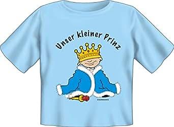 nuestro pequeño Prinz–Baby–Camiseta Textiles azul claro 80/86 cm