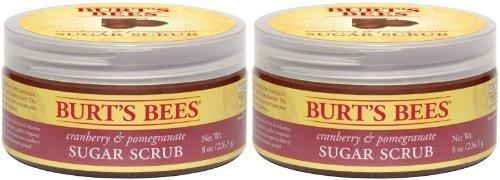Burt's Bees Cranberry and Pomegranate Sugar Scrub - 8 oz - 2 pk - Scrub Cranberry Body