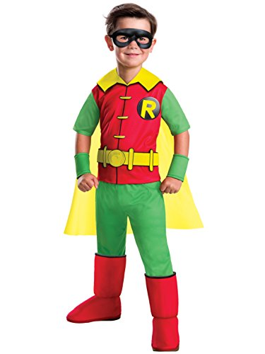 Rubie's Costume Boys DC Comics Deluxe Robin Costume, Small, Multicolor
