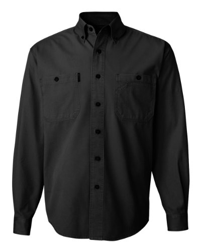 DRI DUCK 4285 Sawtooth Collection Brick Long Sleeve Shirt Black (Dri Duck Sawtooth Collection)