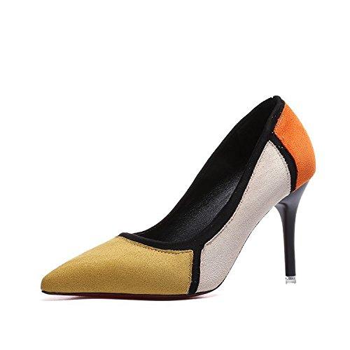 Donyyyy Superficialmente, de tacón alto delgado de zapatos de mujer Thirty-nine