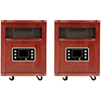 Haier 5,200 BTU Infrared Space Heater with Cherry Finish, 2 Pack | HHC15CPCW