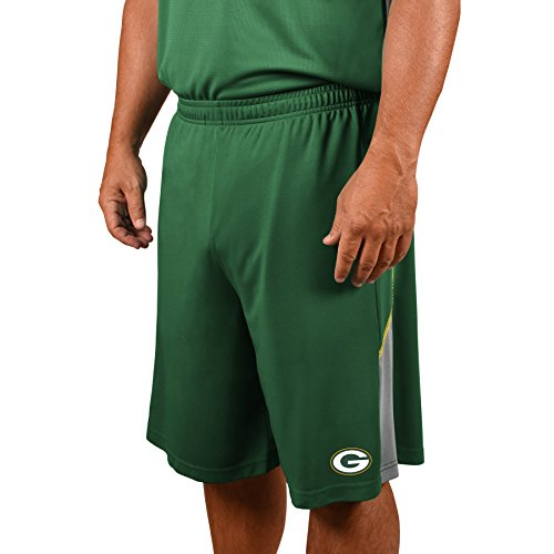 NFL Green Bay Packers Adult men NFL Plus Synthetic Shorts,4X,Dk.Green Nfl Green Bay Packers Short
